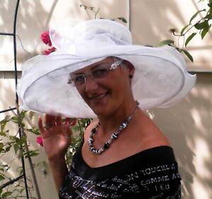 Damenhut eleganter großer Anlasshut Seeberger Festlich Hochzeit Trauer Damenhüte