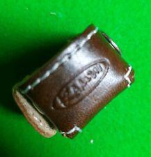 Kamui Genuine Leather Pool Snooker Chalk Holder. Brown. NEW