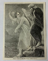 1885 magazine engraving ~ EZEKIEL'S VISION OF THE DRY BONES ~ 'Ekiel'