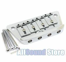 NEW - Danelectro Adjustable Saddle Bass Bridge with Mounting Screws - CHROME