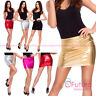 Women's Sexy Shiny Metallic Liquid Wet Look Faux Leather Casual Mini Skirt RIO