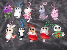 LOT OF 10 TY BABY BASKET HALLOWEENIE BEANIE BOOS XMAS HALLOWEEN EASTER KEY CLIPS