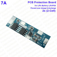 7A Battery BMS Charger Discharge Protection PCB Board For 2S 6.4v 7.2V LiFePO4