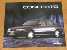 1991 Honda Concerto original Australian large format single page brochure