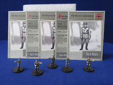 Axis & Allies Miniatures BASE SET 5 SS-Haupsturmfuhrers #37/48 + Stat Cards GE7