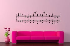 Wall Vinyl Sticker Music Notes Melody Jazz Orchestra Song Composer Poster AS001