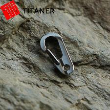 Titaner Titanium Carabiner Snap Bottle Hook Keyring Keychain Quickdraw Buckle S