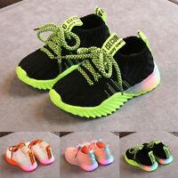 Toddler Infant Kids Baby Girls Boys Mesh Light Luminous Sport Shoes Sneakers