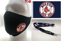 Boston Red Sox Gift Set Christmas 3x5 Flag Banner Face Mask Holder Strap Saver