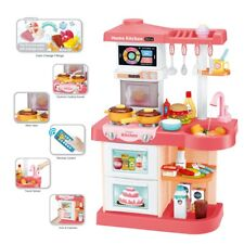 Kitchen Playset With Light Sound Effect Pretend Child Kids Play Toys Cooking Set