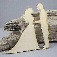 LARGE Bride Groom Love Embellishment MDF Birch Plywood Laser Cut Wooden Shape