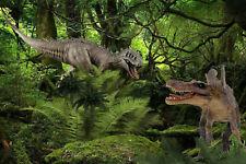 Dino Wars! 2 Powerful Awesome Dinosaur Pvc Statues Sale $30 Reduced ~Bonus Sheep