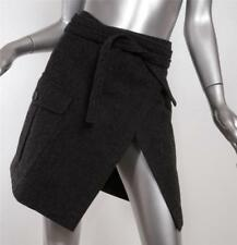 COMME DES GARCONS 1994 Womens Charcoal Gray Wool Cargo Pocket Wrap Skirt M NEW