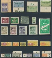 Lot Stamp Germany Poland Revenue WWII Medical Import Eisen Vacation Baggage MNH