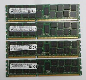64GB KIT (4 X 16GB) HP MICRON PC3L-12800R 713756-081 Server RAM ECC DDR3 1600