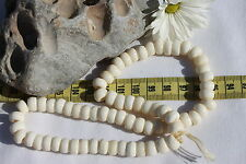 9mm Crow White Buffalo Bone Beads /68 beads