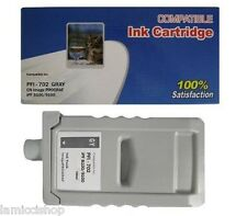 WF PFI-702 Gray 700ml Ink Cartridge Compatible for Canon Printer iPF 8100 9100