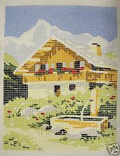 Alpine Chalet - new DMC tapestry canvas