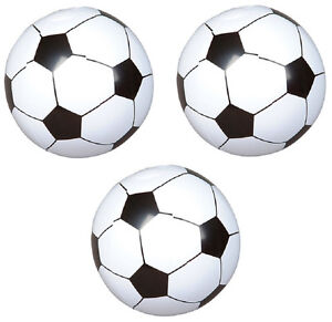 """3 pk Party Favor 18"""" INFLATABLE SOCCER BALLS Birthday World Cup Team Pool Toy"""