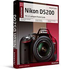 Nikon D5200 Kamerahandbuch, mit 12-seitiger Klappkarte Pearson NEU
