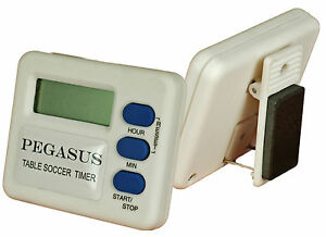 THE NEW PEGASUS TABLE SOCCER TIMER. TO BE USED TO TIME YOUR SUBBUTEO MATCHES.