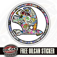 SKODA LOGO CAR STCKER, STICKER BOMBED STICKER BOMBING design 85mm diameter