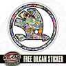 Skoda Logo Auto Sticker, Aufkleber bombardiert Design 85mm Durchmesser