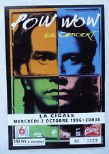 """ANCIEN BILLET DE CONCERT """"POW WOW"""" PARIS / 1996 / USED TICKET PLACE"""