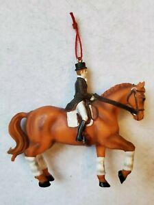 "Horse & Rider Christmas Ornament 4"" x 3.5"""