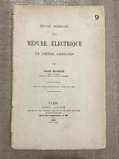 Expose De La Mesure Electrique Jules Reynaud Electricity Telegraph