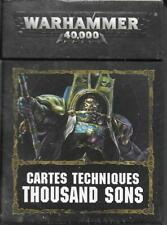 WARHAMMER 40000 40k - Cartes Techniques Thousand Sons |NEUF/NEW|