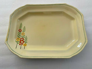 Taylor Smith Taylor TST60 Yellow Red Flowers Tall Stems Leaves - SERVING PLATTER