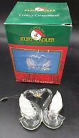 Kurt Adler Glass Love Swans Christmas Ornament