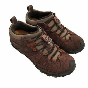 Merrell Sneaker Boots women 6.5 Brown Leather Chameleon Arc Hiking Shoes Outdoor