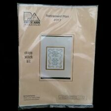 Patty Ann Creation Stamped Cross Stitch Craft Kit Retirement Plan Lord #317