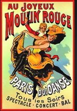 Au Joyeux Moulin Rouge Advert  poster A2 SIZE