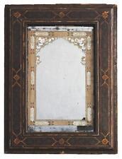 Miroir Perse d'époque XVIIIème peinture fixée sous verre