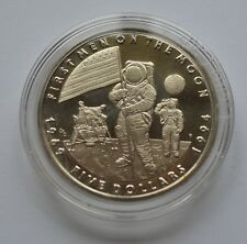 1994 Marshall Islands $5 Five Dollars Crown Coin First Men On The Moon Rare UNC