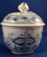 Antique Meissen Porcelain Blue Onion Mini Sugar Dish & Lid Porzellan Zuckerdose