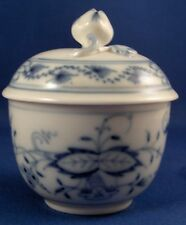 Antique Meissen Porcelain Blue Onion Mini Sugar Dish & Lid Porzellan Zuckerdose