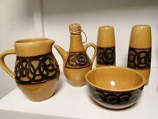 More details for vintage brixham pottery cruet set & milk and sugar bowl