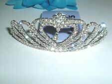 Claire's White Rhinestone Fashion Heart Tiara New with Tags
