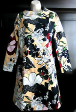 Raoul Floral Coat  Artistic Trench Coat Leather Buttons Etro sz 4 /sz S NWT$385