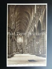 Old PC London: Westminster Abbey Nave looking East showing WARRIORS GRAVE