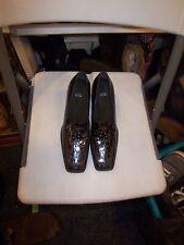 stuart weitzman dark brown mid heel shoes size 9.5 US women