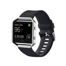 Plástico/Reloj Silicóna Pulsera para Fitbit Blaze Watch Negro Accesorio 17-20 cm