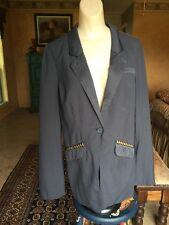Free People Vice Studded Blazer Jacket Cardigan Size 10 NWOT BOHO CHIC SEXY HOT!