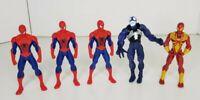 Marvel Action Figure Bundle - Spider-Man and Venom 11cm