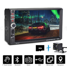 "7"" Double 2Din Car MP3 Player Head Unit Radio Stereo GPS SAT NAV Parking Camera"