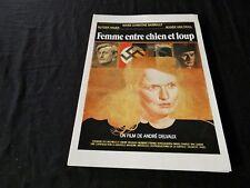 FEMME ENTRE CHIEN ET LOUP  dossier presse cinema 1979